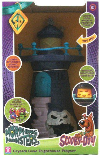 Amazon.com: Scooby Doo Crystal Cove Glow-in-the-dark Scary Sound Effects Fright House Play Set: Toys & Games