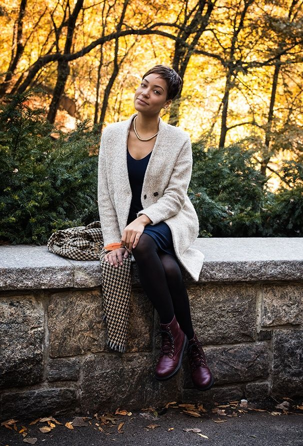Autumn in New York. Cush Jumbo photographed by Caitlin McNaney for Broadway.com.