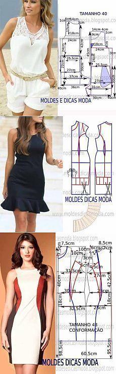 Patrones simples de la ropa de las mujeres (de Internet) / Otros costura / coser