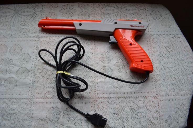 Original Nintendo Orange Zapper Gun Controller Duck Hunt NES-005 1985 Vintage #Nintendo