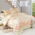 Single Double Queen King Size Bed Set Pillowcases Quilt Duvet Cover Rose Garden