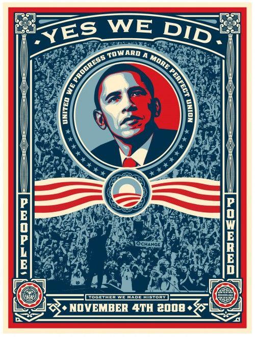 2008 PRESIDENT BARACK OBAMA VICTORY POSTER