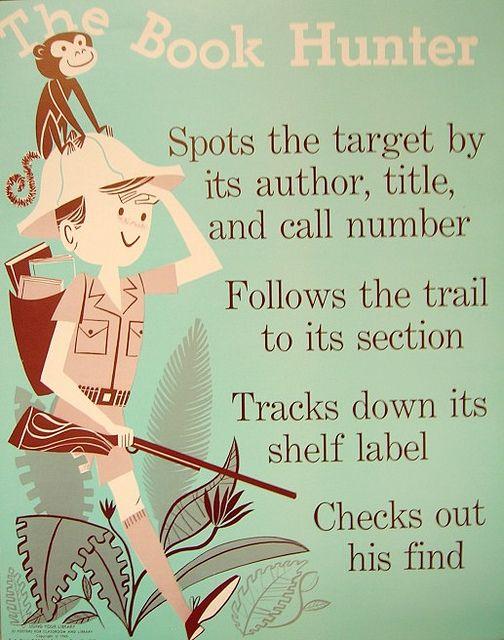 Instrucciones divertidas para ubicar un libro en la biblioteca