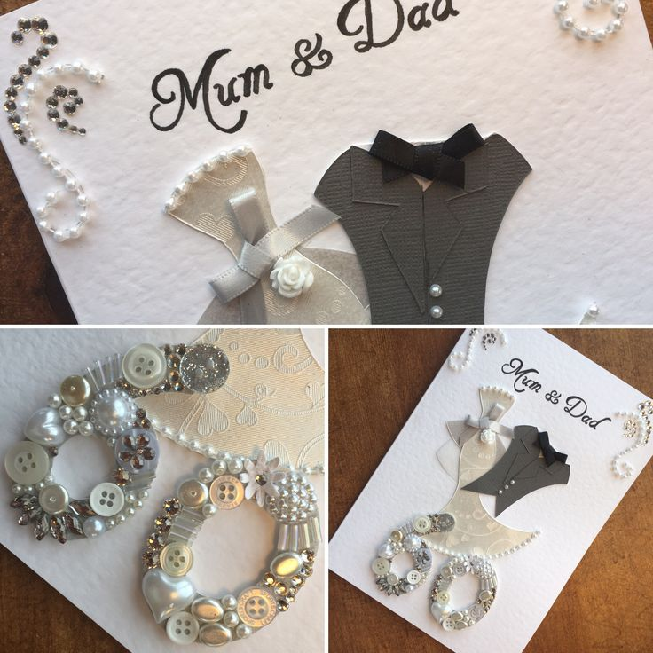60th (Diamond) Wedding Anniversary card.  Made to order