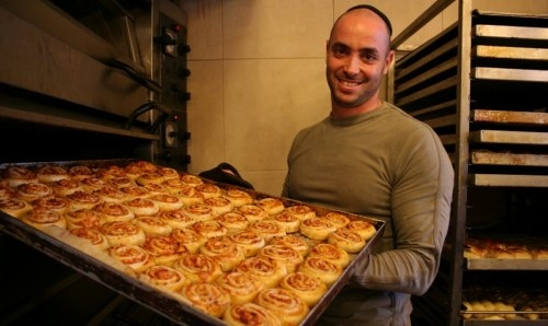 Marzipan one of the best Israeli bakeries - I love the ruggeluch fresh from the oven etev shabbos - Jerusalem, Israel