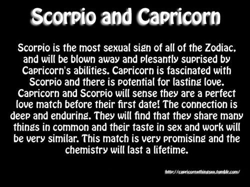 Cancer hookup a capricorn male and scorpio