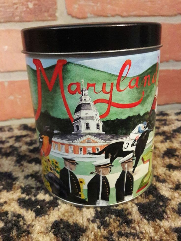 Independent Tin Can Company MARYLAND Crab Horse Race Flag Track Lighthouse 2000 #IndependentCanCompany