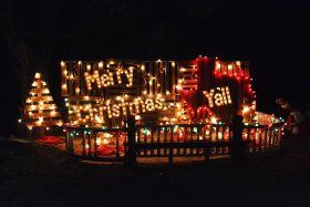 The EmilyAnn Theatre and Gardens - they decorate for Christmas, with people and businesses making special displays. There are refreshments and hot chocolate available, as well as hot dogs and marshmallows for roasting.