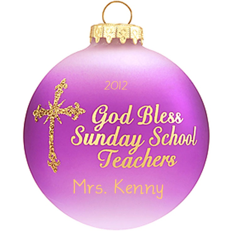 Sunday School Christmas Ornaments