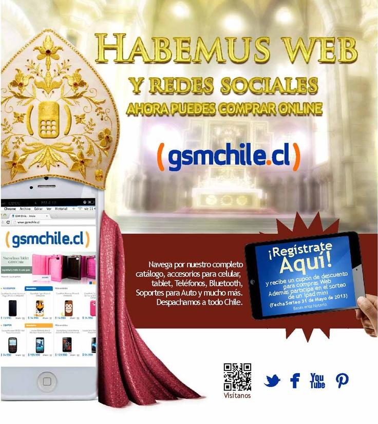 Ahora puedes comprar online gsmchile.cl   Navega por nuestro completo catálogo, accesorios para celular, tablet, teléfonos, bluetooth, soportes para auto y mucho más.   Despachamos a todo Chile. Síguenos en nuestra redes sociales: www.facebook.com/gsmchile.cl   @gsm_chile