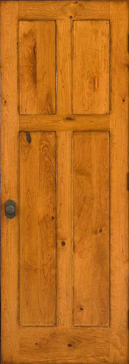 A Beautiful Rustic Cherry Door With A Distressed Finish To