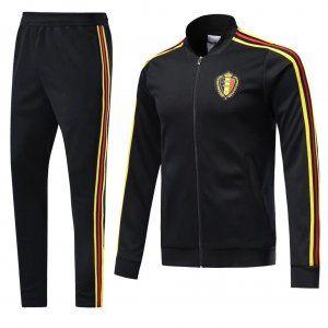 2018 Jacket Set Belgium Replica Football Black Suit [BFC595]