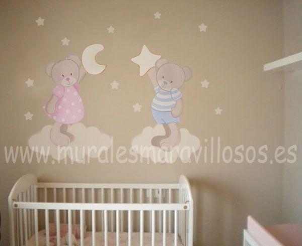Decoraci n infantil y murales pintados en paredes lisas - Paredes habitaciones infantiles ...