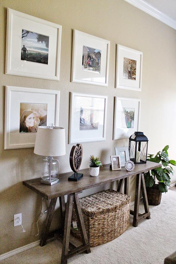 Entry Way   Living Room Decor // Ikea Picture Frame Gallery Wall // Sofa  Table Decor // Tucker Up Right In The Frodnt Door Where Pie Safe Use To Be!