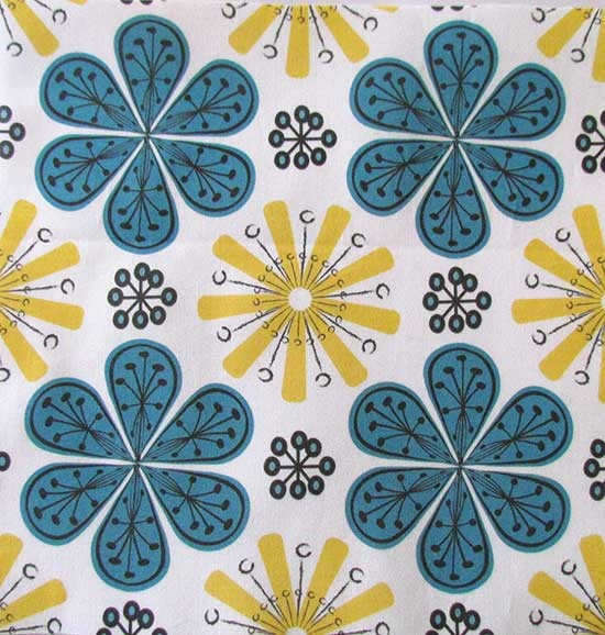 Atomic Flowers by Knittingand on Spoonflower