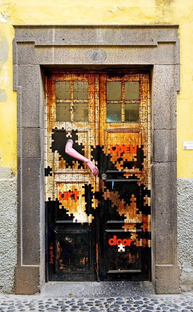 Door in Funchal, Madeira, Portugal