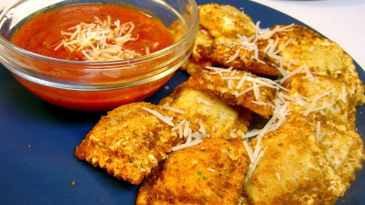 Baked Toasted Ravioli Recipe | Party Food | Pinterest