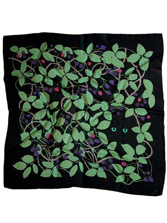 Cat in Brambles luxury wool scarf from Karen Mabon. Fantastic digital prints with great character