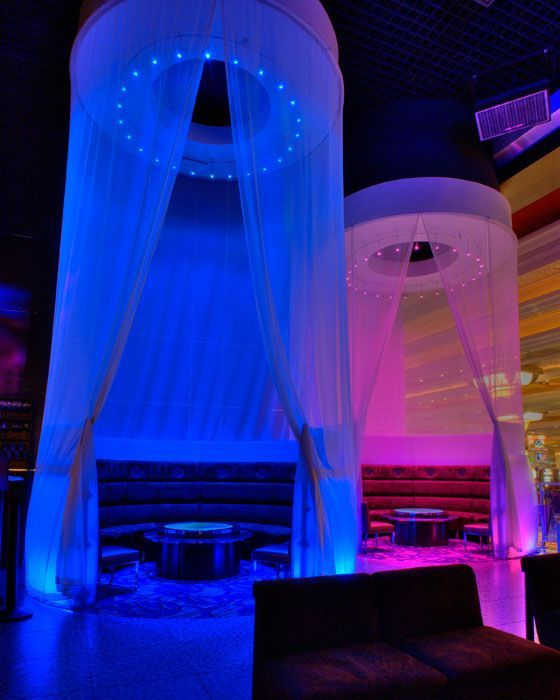 LED Lounge lighting – Philips Color Kinetics at eyecandy sound lounge and bar  P…