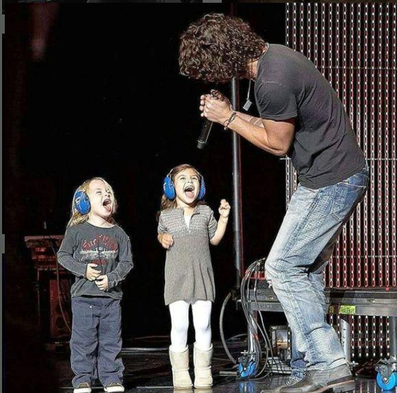 Chris Cornell with Chris Jr. & Toni