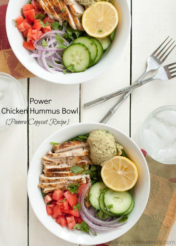 Power Chicken Hummus Bowl {Panera Copycat Recipe}