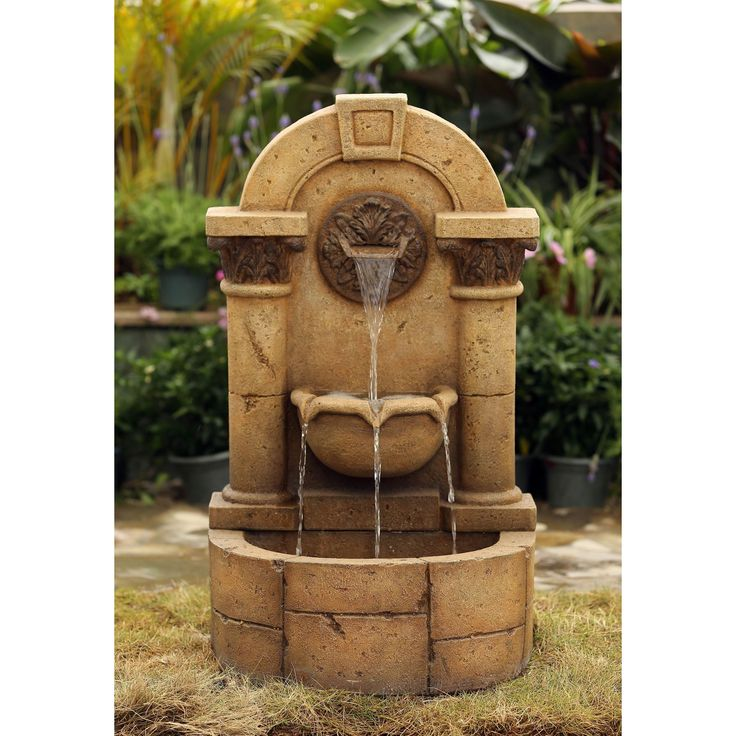 This classically styled fountain features a marble pillar design. Water cascades gently from one level to the next, creating a pleasant look and sound. This beautiful design is crafted of a stone look polyresin for a realistic feel.