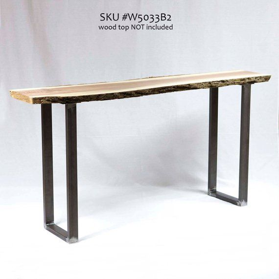 H 28 Inch W5033b2 Console Table U Leg 1 Pair Console Table Live Edge Console Table Small Writing Desk