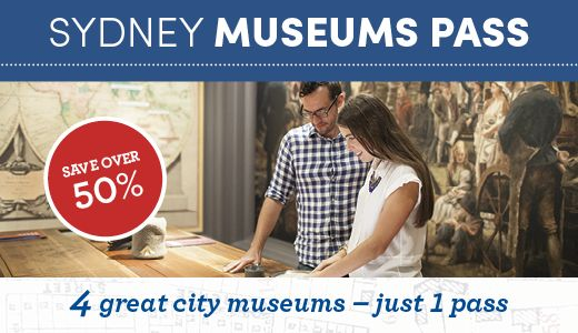 Sydney Museums Pass - Sydney Living Museums - Historic Houses Trust of NSW. Whether you're a Sydney local or just visiting for a few days, the Sydney Museums Pass is the smartest way to experience Sydney's past and present. Save over 50% on regular admission fees to 4 of the city's top museums: Museum of Sydney, Hyde Park Barracks Museum, Justice & Police Museum, and Susannah Place Museum. TICKETS: $18 Adult, $9 Child (Ages 5–15), $9 Concession, Free entry for children aged 4 and under