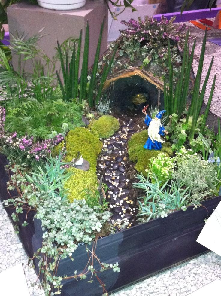 A miniature garden of The Hobbit at the TO Garden Show.