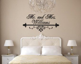 mr and mrs bedroom wall art