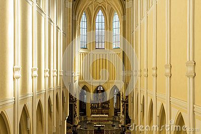KUTNA HORA, SEDLEC, CZECH REPUBLIC- :Interior view of Cathedral of Assumption of Our Lady and Saint John the Baptist .