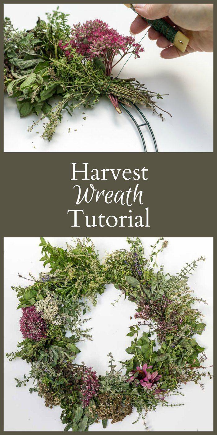 Easy Herbal Harvest Wreath Tutorial