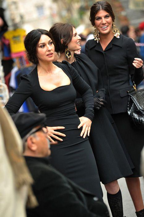 Monica Bellucci models for Dolce & Gabbana's new Autumn/Winter ...