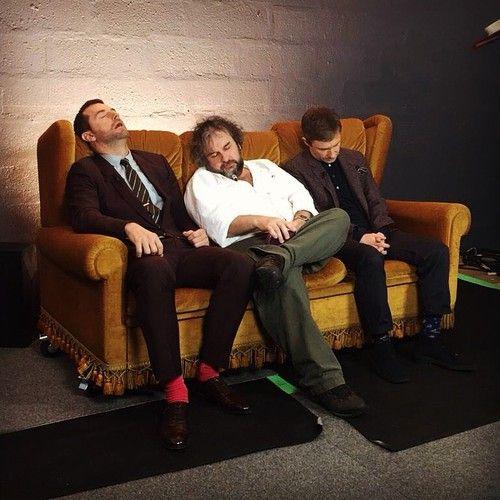 Richard Armitage, Peter Jackson and Martin Freeman