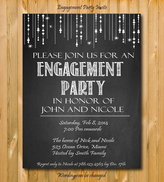 Top 25 best Engagement Invitation Cards ideas – Handmade Engagement Party Invitations