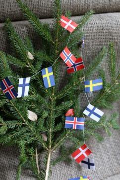 Julpynt - Julgransgirland - Flaggor - NORDISKA