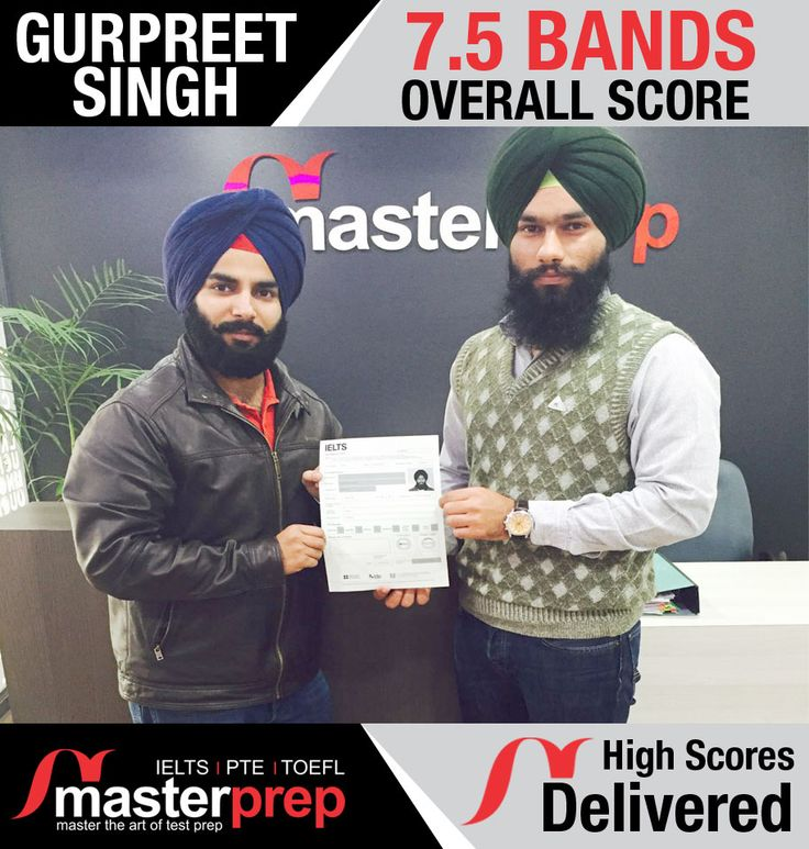 Another success story by #MasterPrep - you can be next! Get expert #IELTS_Coaching from the #Best_IELTS_Training_Institute in North India. Exclusive #PTE_preparation and #TOEFL_preparation batches as well.   For complete information & enrolment, Contact Masterprep on - 0172-4371400 or Visit www.masterprep.in
