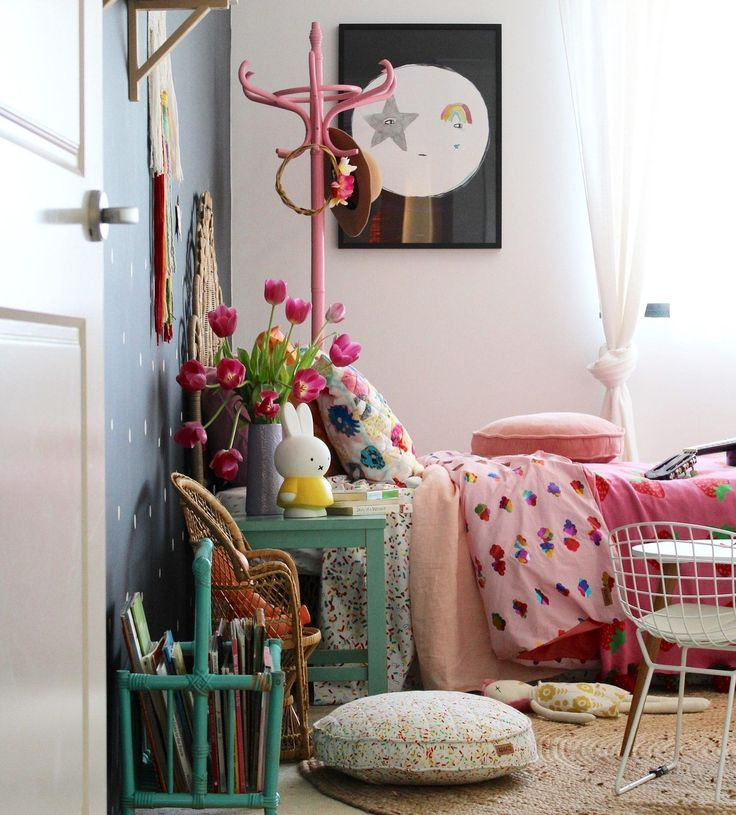 boho vintage | kids bedroom ideas for girls, how to create the look - on the blog www.fourcheekymonkeys.com