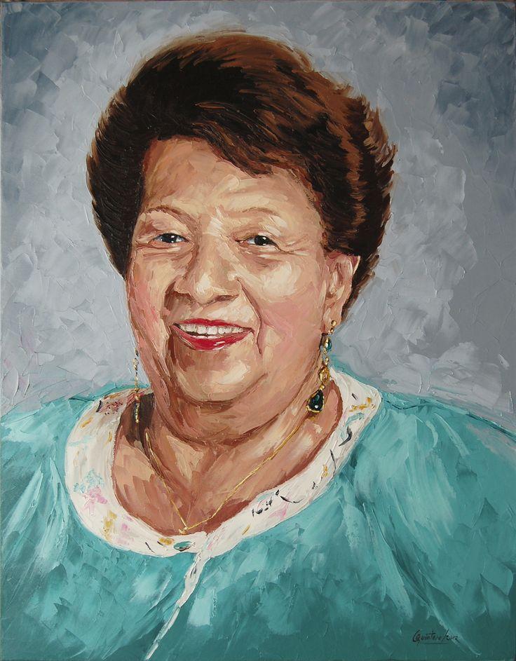 Retrato - Oleo con espátula sobre lienzo - 61 x 46 cm - 2013