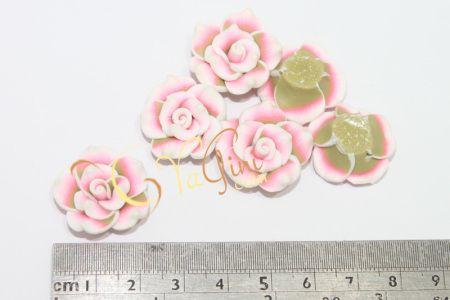 Aplikasi Clay Bunga Kecil 2cm - Pink Hijau - yagini.com - 085641416429 - 3