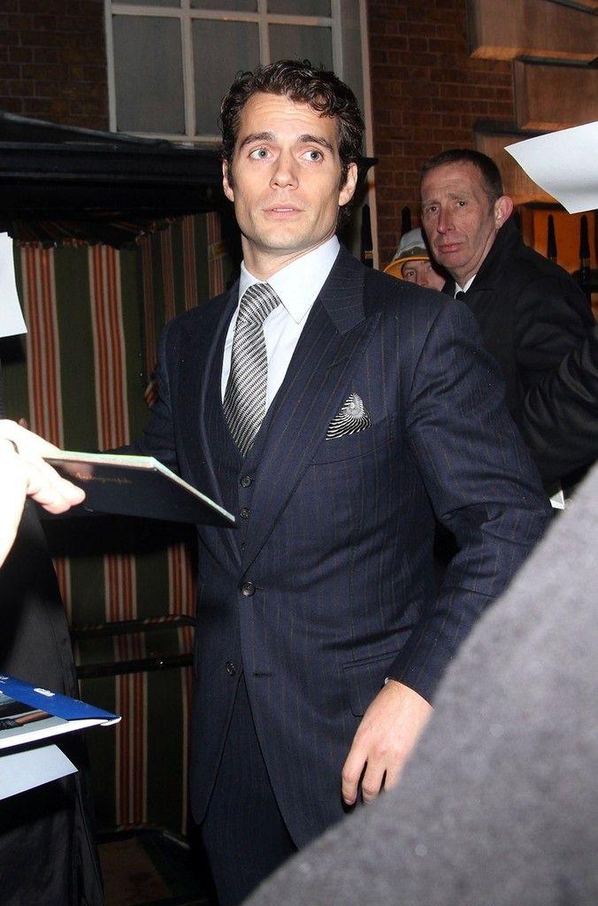 Henry Cavill at the Chanel pre-BAFTA dinner