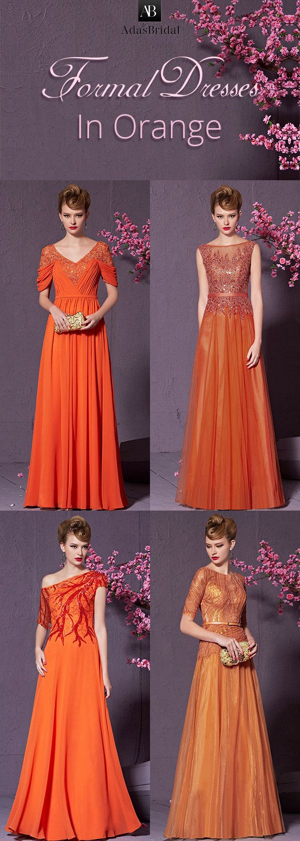 1000  ideas about Orange Formal Dresses on Pinterest  Lace formal ...