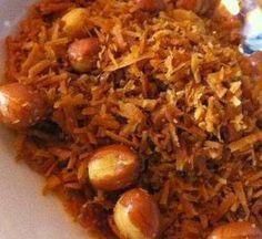 Indonesische Recepten: Seroendeng: Indonesisch bijgerecht van geraspte gebakken kokos met pinda's