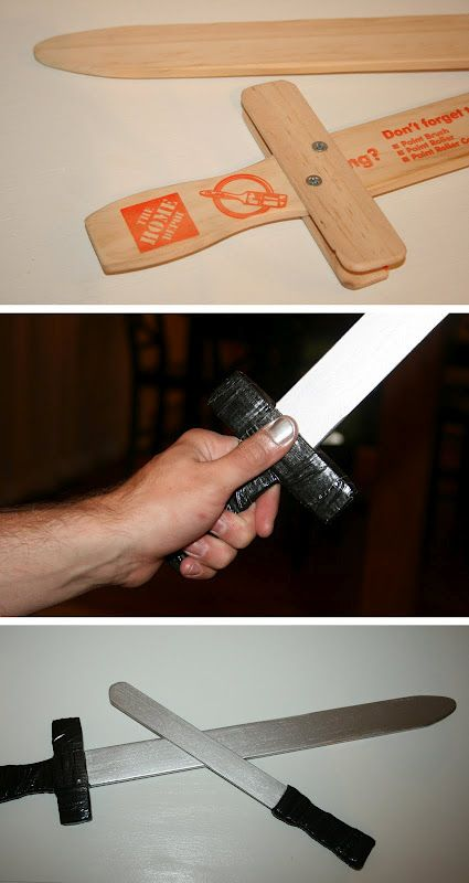 Toy swords from paint sticks!
