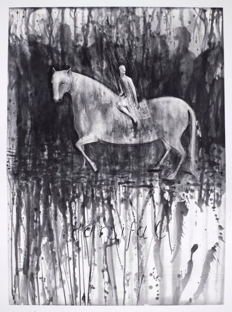 Parsifal II (2014). Edition size of 20. Drypoint, Spitbite and Sugarlift Aquatint