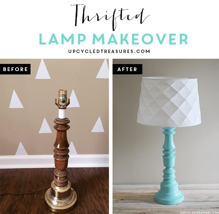 Update an old, thrown out lamp into something modern and beautiful! upcycledtreasures.com
