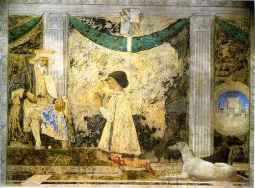 123.140 Piero della Francesca Sigismondo Pandolfo Malatesta davanti a San Sigismondo