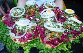 Cocinas y Recetas: Enchiladas y comidas en la feria de Jocotenango