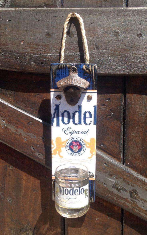 Modelo Beer bottle wall opener by GlassNthings420 on Etsy