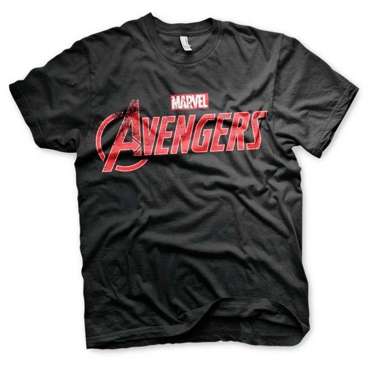 Marvel The Avengers - Distressed Logo unisex T-shirt zwart - Superheld